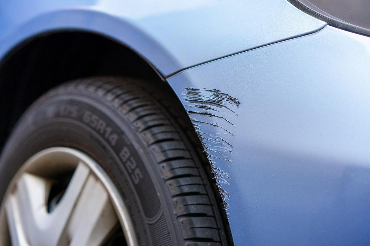 車のキズのイメージ